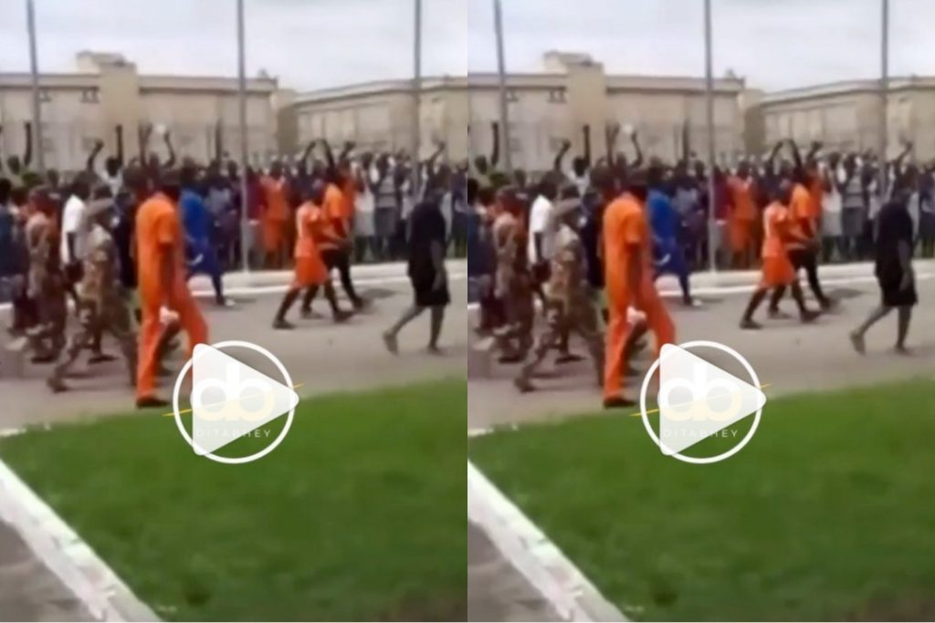 Hilarious Moment Of How Inmates At Ankaful Prison Welcomed Shatta Wale (Video)